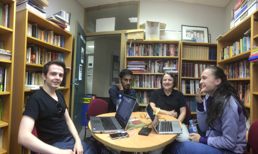 The Offset 17 team. From left to right, Liam Richards, Jeevan Jeganathan, Pauline Sawyer, and Lina Bujupi