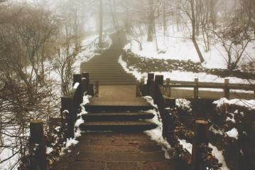Kit Tong, Snow Steps at Huang Shan China